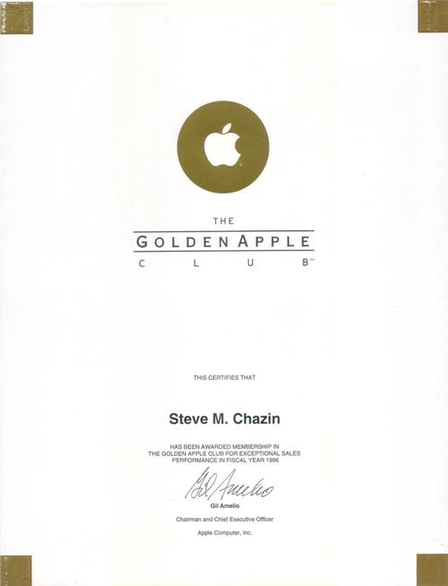 Golden Apple Award 1996